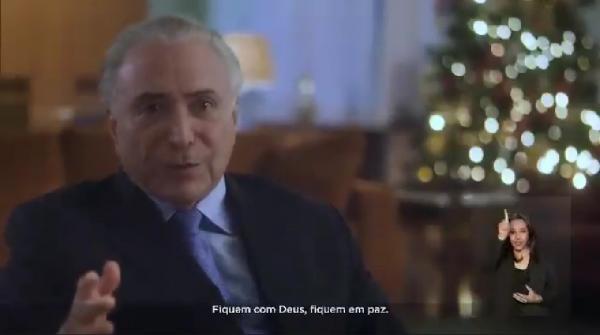 Em mensagem de Natal, Temer diz que deixa presidência com a alma leve e a consciência do dever cumprido