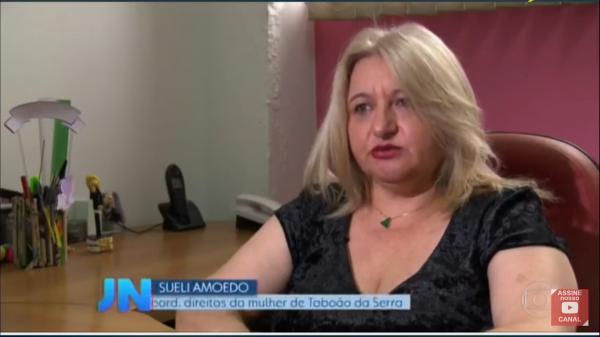 Patrulha Guardiã Maria da Penha de Taboão da Serra é destaque no Jornal Nacional, da TV Globo
