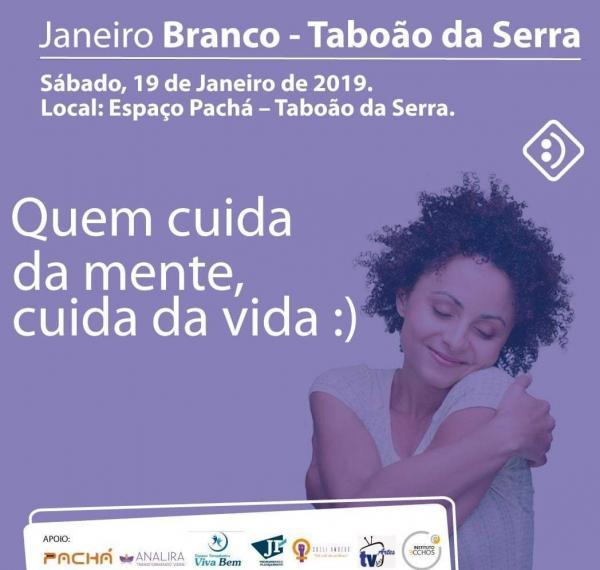 Janeiro Branco: Evento em Taboão da Serra promove conscientização da saúde mental